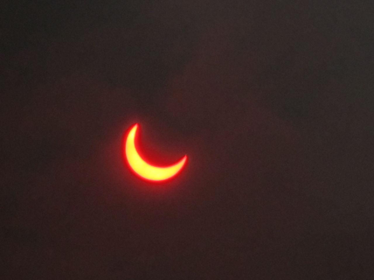 金環日食を撮ってみた