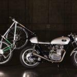 オートバイに自転車を積む方法 NAHBS BREADWINNER CAFE RACER編