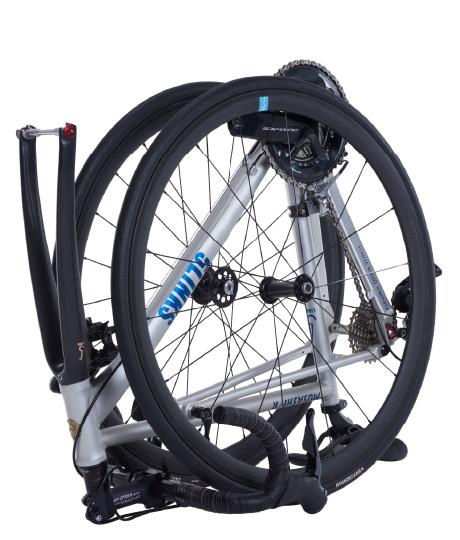 輪行を重視した折り畳める本格ロードバイク「5Links 700c MUSASHI/R」